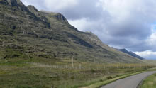 View from the road on drive to Lochcarron - Torridon